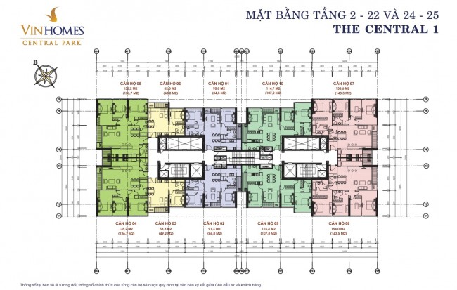 mat bang Vinhomes central park 1 lau 2-25