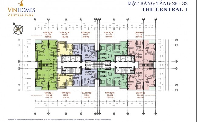 mat bang Vinhomes central park 1 lau 26-33
